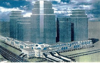 Artist rendering of Secaucus Transfer